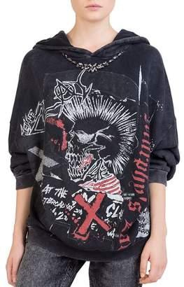 The Kooples Vintage Punk Graphic Sweatshirt