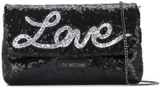 Love Moschino glitter shoulder bag