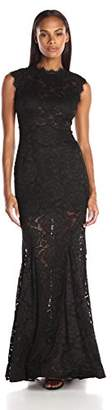 Betsy & Adam Women's Long Lace Mermaid Dress $212.76 thestylecure.com