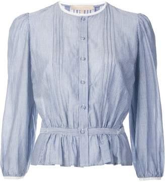 Vanessa Bruno ruffle detail 3/4 sleeve shirt