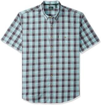 G.H. Bass & Co. Men's Size Big Short Sleeve Madawaska Plaid Trail Shirt