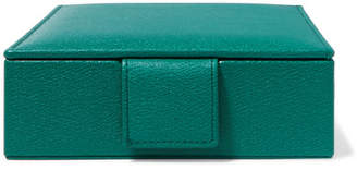 Smythson Grosvenor Textured-leather Travel Jewelry Box