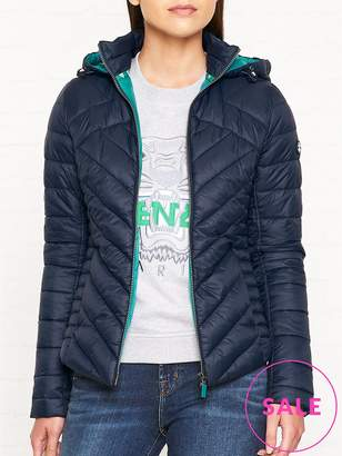 Barbour Pentle Baffle Quilted Hooded Jacket