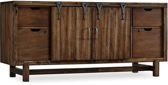 "One Kings Lane Glide 64.5"" Media Console - Rustic Brown"