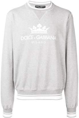 Dolce & Gabbana cuffed stamped sweatshirt