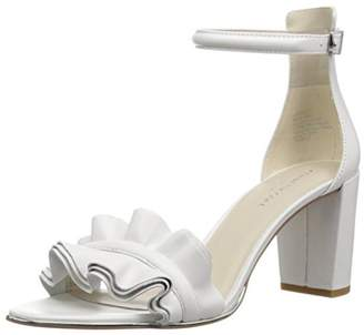 Kenneth Cole New York White Ruffle Heel