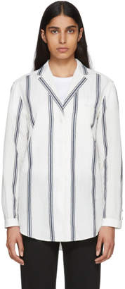 Rag & Bone Off-White and Navy Alyse Striped Shirt