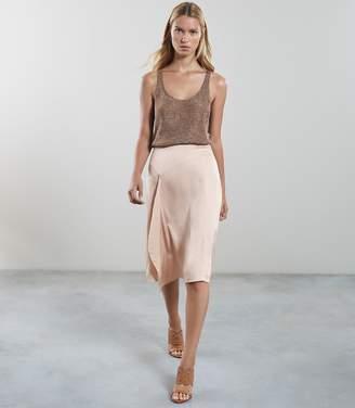Reiss Julia Drape Detail A-Line Skirt