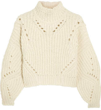 Isabel Marant - Farren Cropped Ribbed Wool-blend Turtleneck Sweater - Ecru