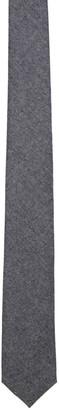 Maison Kitsuné Grey Wool Flannel Tie $110 thestylecure.com