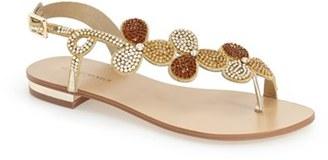 Women's Menbur 'Gunmiel' Crystal Embellished Flat Sandal $134.95 thestylecure.com