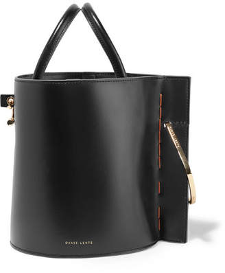 Lente Danse Bobbi Leather Bucket Bag - Black