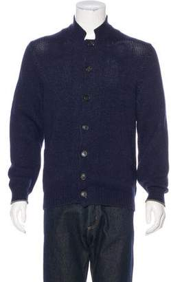 Brunello Cucinelli Mock Neck Button-Up Cardigan