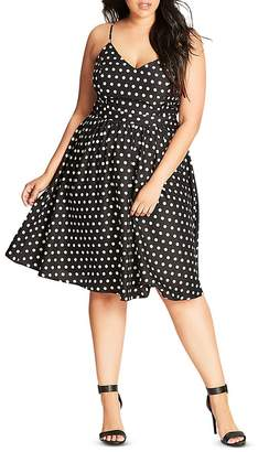City Chic Polka Dot Dress $89 thestylecure.com