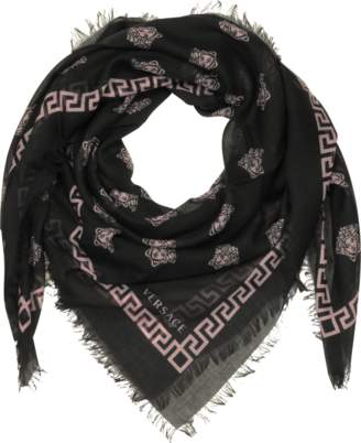 Versace Medusa Printed Silk and Modal Wrap