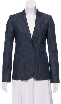 Gucci Structured Chambray Blazer