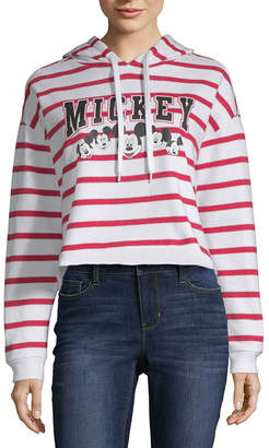 Freeze Mickey Mouse Cropped Sweatshirt - Juniors