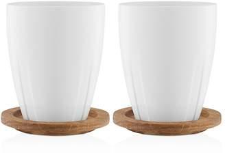 Kosta Boda Bruk Mug With Lid, Set of 2