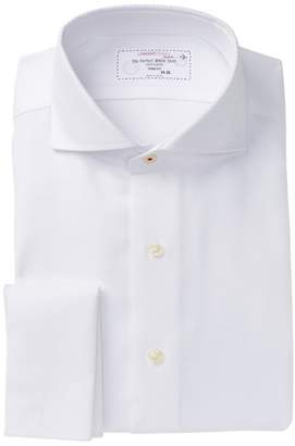 Lorenzo Uomo Basketweave French Cuff Regular Fit Dress Shirt