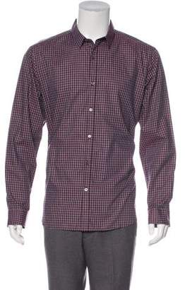 Theory Gingham Woven Shirt