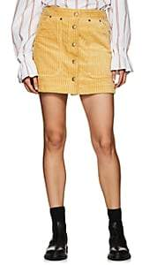 SAM. Land of Distraction Women's Wide-Wale Corduroy Miniskirt - Mustard