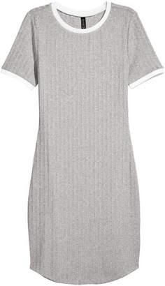 H&M Ribbed Dress - Gray