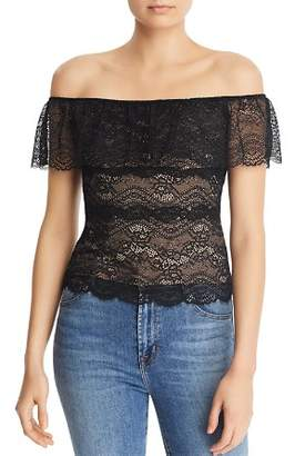 GUESS Marabell Off-the-Shoulder Lace Top