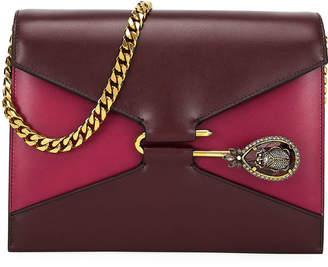 Alexander McQueen Calf Leather Pin Satchel Shoulder Bag