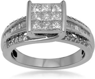 JCPenney MODERN BRIDE 1 CT. T.W. Diamond 10K White Gold Multi-Top Bridal Ring