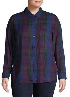 Levi's Plus Relaxed-Fit Boyfriend Shirt