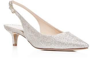 Sam Edelman Women's Ludlow Glitter Slingback Kitten-Heel Pumps