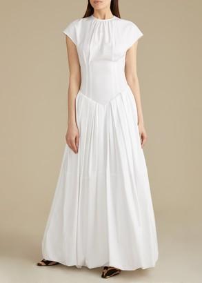 KHAITE The Rita Dress in White
