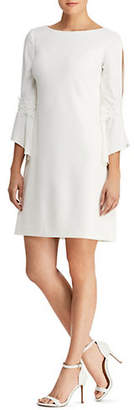 Lauren Ralph Lauren Lace-Trimmed Bell-Sleeve Shift Dress
