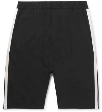 Neil Barrett Satin-Trimmed Stretch-Crepe Shorts - Black