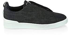 Ermenegildo Zegna Men's Triple Stitch Slip-On Sneakers