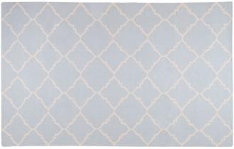 Blue Area Artisan Weaver Ward Lattice Reversible Wool Rug