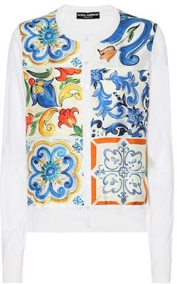 Dolce & Gabbana Printed silk cardigan