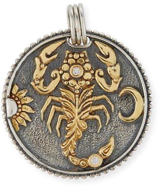 Konstantino Scorpio Carved Zodiac Pendant with Diamonds