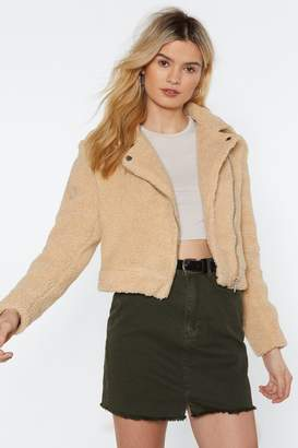 Nasty Gal Feel For You Faux Shearling Jacket