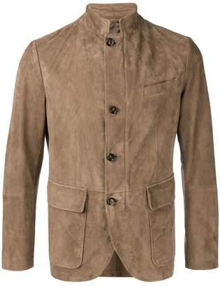 Eleventy high neck single breasted blazer