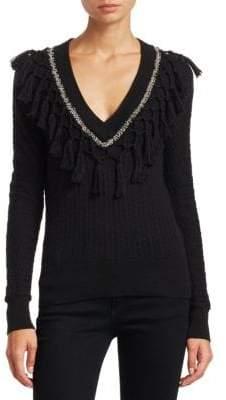 Jonathan Simkhai Wool Metal Tassel Sweater