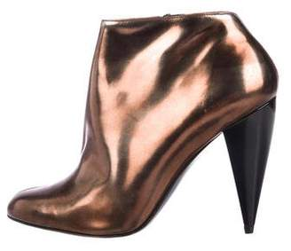 Lanvin Metallic Leather Ankle Boots