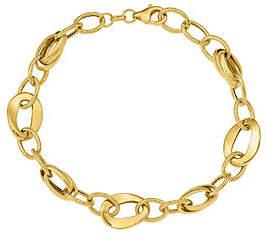 QVC 14K Oval Variety Link Bracelet, 4.6g