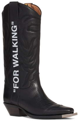 Off-White For Walking Leather Cowboy Boot