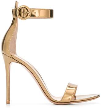 e3aaab812ea5 Gold Strap Buckle Sandals For Women - ShopStyle UK