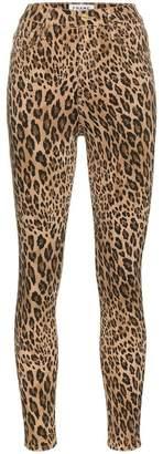Frame Leopard Print Skinny Jeans
