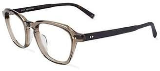John Varvatos Men's Prescription Eyeglasses - V204 UF Smoke Crystal -