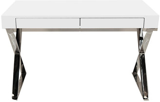 One Kings Lane Alba X-Leg Desk - White