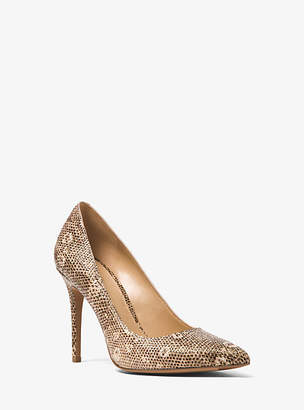 Michael Kors Claire Lizard-Embossed Leather Pump
