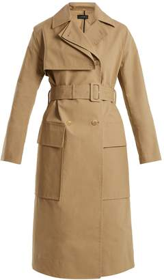 Aquila oversized-pocket belted trench coat